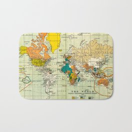 Map of the old world Bath Mat