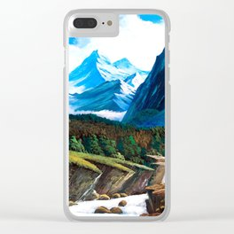Flow of Rocky thaw Clear iPhone Case