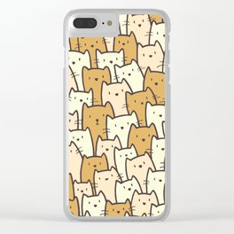 Cats on Cats on Cats Clear iPhone Case