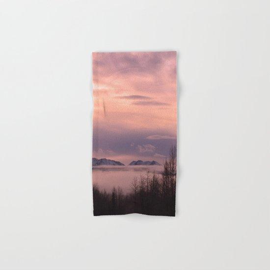 Rose Serenity Winter Fog - II Hand & Bath Towel
