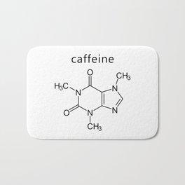caffeine molecule formula Bath Mat