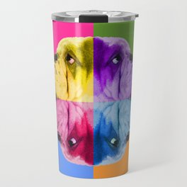 English Bulldog Pop Art portrait. Travel Mug