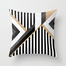 Stripe Combination Throw Pillow