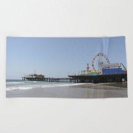 Santa Monica Pier Beach Towel
