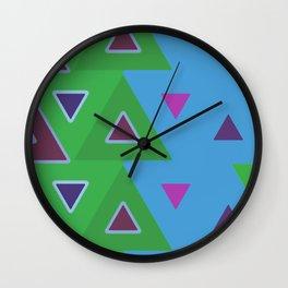 abstact blue 1 Wall Clock