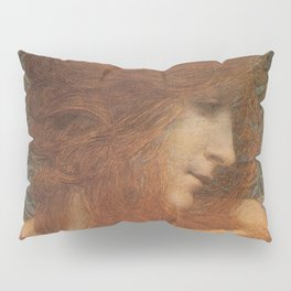 The Woman and the Serpent portrait painting by Lucien Levy Dhurmer Pillow Sham
