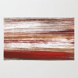Red brown lines Rug