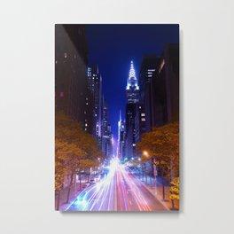 New York Night Life Metal Print