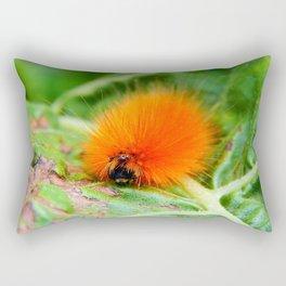 Hairy Caterpillar on Sunflower Leaf Rectangular Pillow