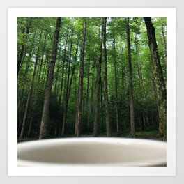 Breakfast View, Smoky Mountain Tennessee Art Print