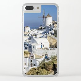 Oia in Santorini, Greece Clear iPhone Case