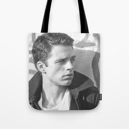 Black and White SEBASTIAN STAN #2 Tote Bag