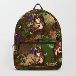 Druid dwarf in the forest in autumn Backpack