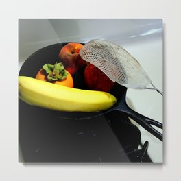 Fruit Fry, Armed And Ready Metal Print