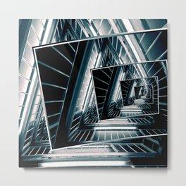 Path of Winding Rails Metal Print