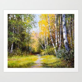 Birch Grove # 3 Art Print