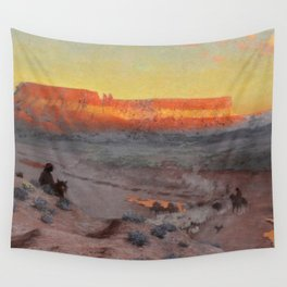 Dowa Yalanne Mesa (Thunder Mountain) Zuni Pueblo, New Mexico by William R. Leigh Wall Tapestry