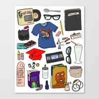 ghost world Canvas Prints featuring Ghost World by Shanti Draws