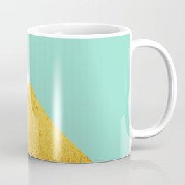 Gold & Aqua Blue Geometry Coffee Mug