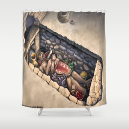 Zapotec Burial Shower Curtain