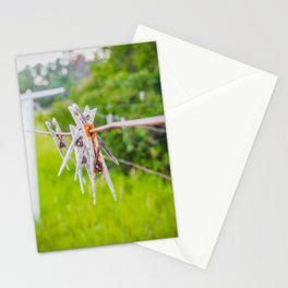 Clothespins on the Line, North Dakota 1 Stationery Cards