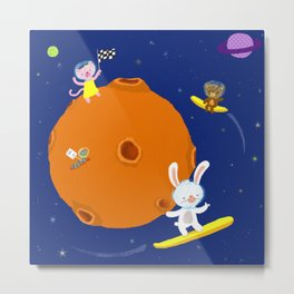 Space Fun Metal Print
