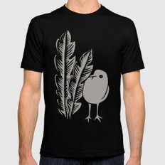 Graphic Bird Black Mens Fitted Tee MEDIUM