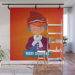 "Mikel AlfsToys say: ""Merry Christmas""  Wall Mural"