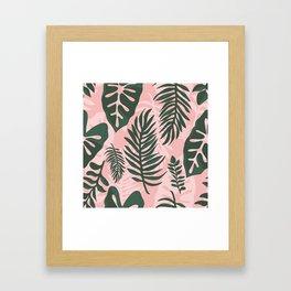 Jungle leaves pattern Framed Art Print