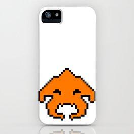 Pixel Invader : Orange iPhone Case