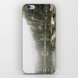 Pale lake - landscape photography iPhone Skin