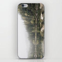 Pale lake - landscape photography iPhone Skin