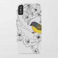 nashville iPhone & iPod Cases featuring Nashville Warbler by Art by Peleegirl