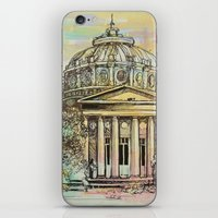 roman iPhone & iPod Skins featuring Ateneul Roman by Nechifor Ionut