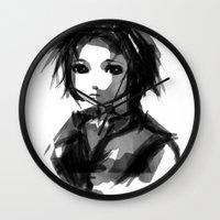 sakura Wall Clocks featuring Sakura by Ryky