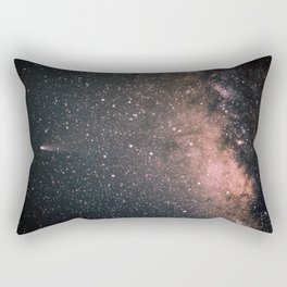Halley's Comet and the Milky Way Rectangular Pillow