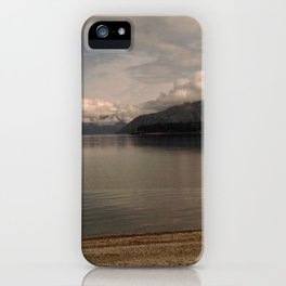 lake wanaka silent capture at sunset in new zealand iPhone Case