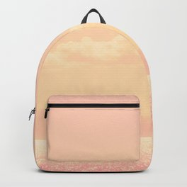 Dreamy Champagne Pink Sparkling Ocean Backpack