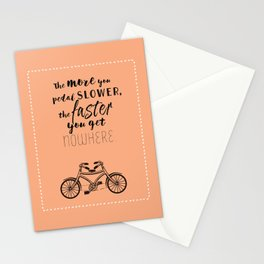 Nowhere. Fast.    (coral) Stationery Cards