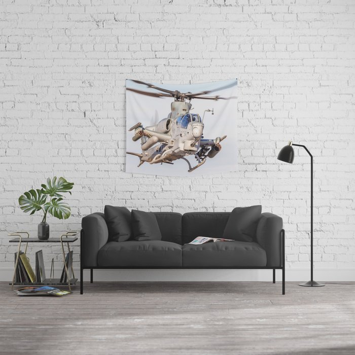 USMC Cobra Attack Helicopter Wall Tapestry