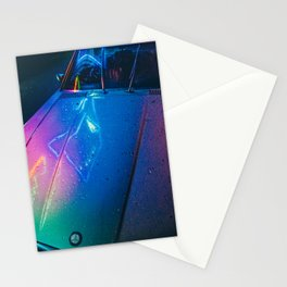 Neon Car Stationery Cards