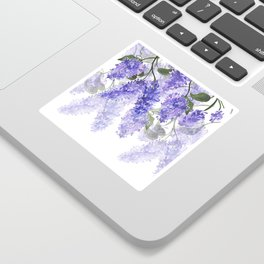 Purple Wisteria Flowers Sticker
