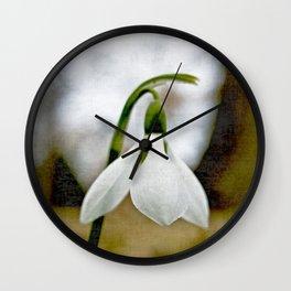Moody Snowdrop Wall Clock