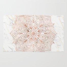 Mandala Rose Gold Quartz on Marble Rug