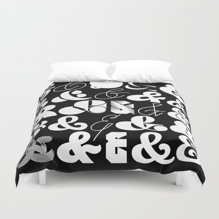 25 Ampersands Duvet Cover