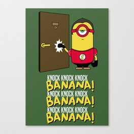 Sheldon Cooper Minion Canvas Print
