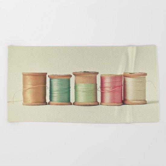 Five in a Row Beach Towel