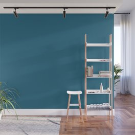 Intrinsic Dark Blue Solid Color Pairs To Sherwin Williams Georgian Bay SW 6509 Wall Mural