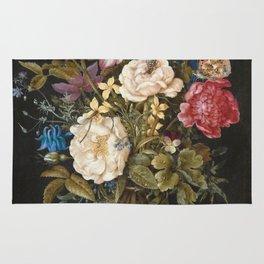Balthasar Van Der Ast - Still-Life With Flowers Rug
