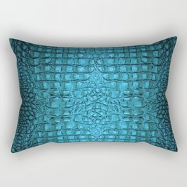 Alligator teal Rectangular Pillow